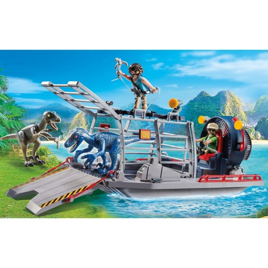 Playmobil Enemy Airboat with Raptor image number null