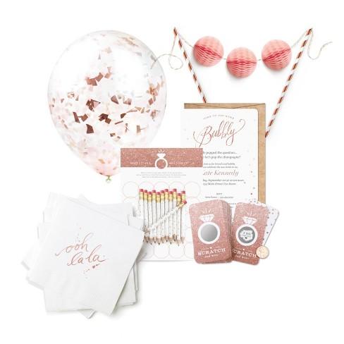 bridal shower kit rose gold inklings paperie
