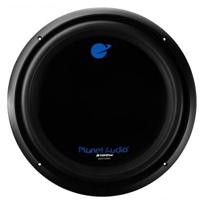 Planet Audio AC15D 15 Inch Diameter 2100 Watt Max DVC 4 Ohm Car Audio Power Subwoofer, Black