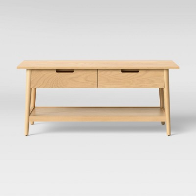 Ellwood Wood Coffee Table with Drawers - Project 62™