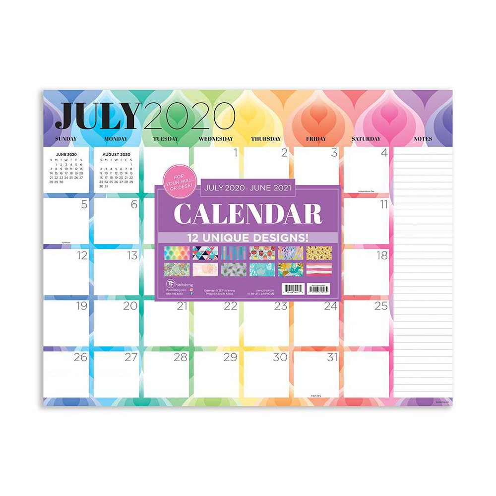 "Image of ""2020-21 Academic Desktop Calendar Patterns Large 17"""" x 22"""" - TF Publishing"""