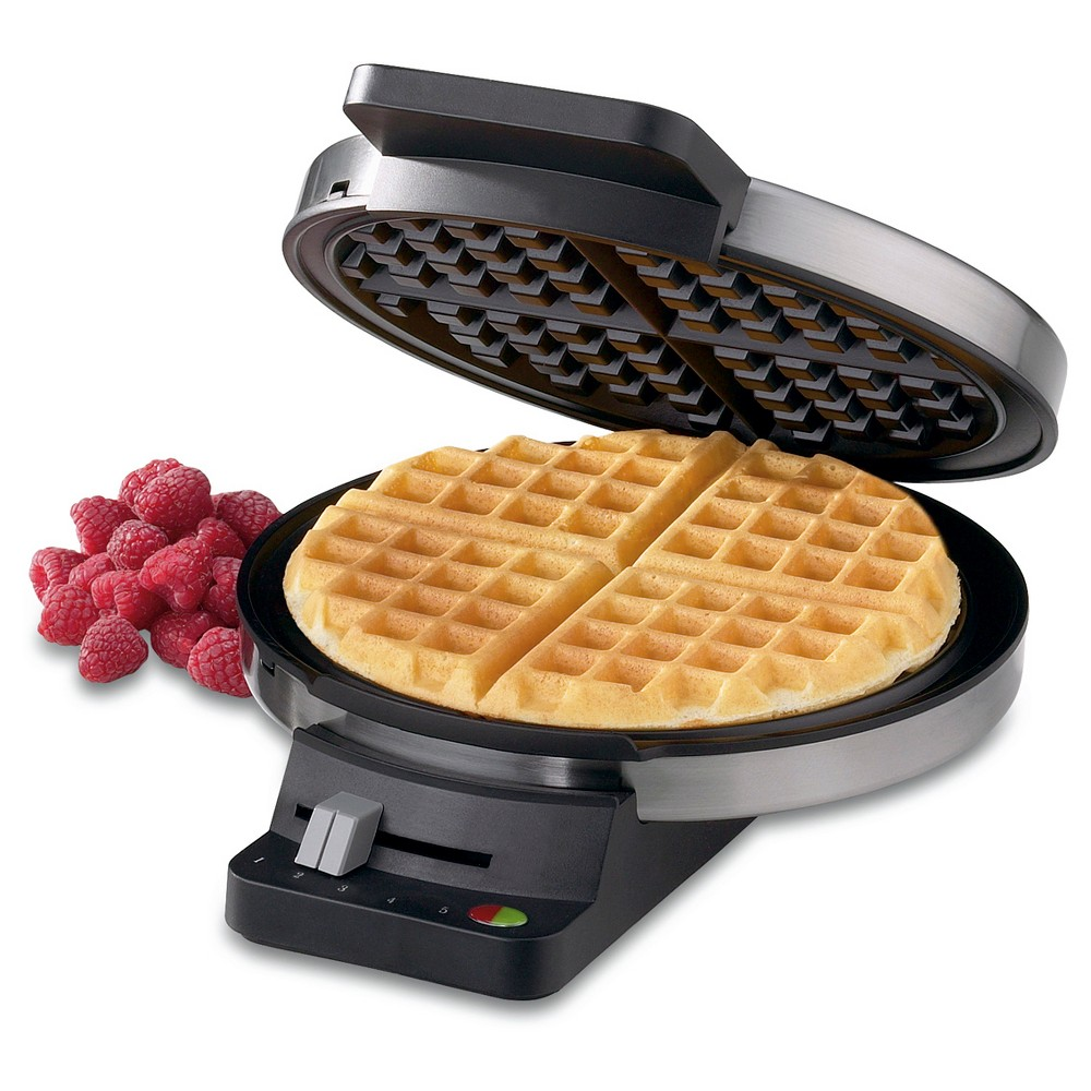 Image of Cuisinart Round Classic Waffle Maker - Stainless Steel WMR-CA, Silver