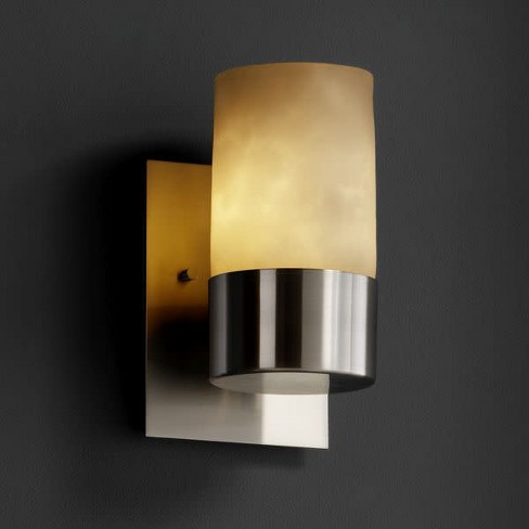 Justice Design Group CLD-8761 Dakota Single Light Up lighting Wall Sconce from the Clouds Collection - image 1 of 1