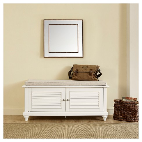 Pleasing Palmetto Entryway Storage Bench White Crosley Cjindustries Chair Design For Home Cjindustriesco