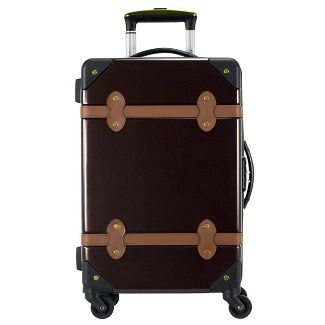 """Chariot Travelware Titanic 20"""" Carry On Suitcase - Brown"""