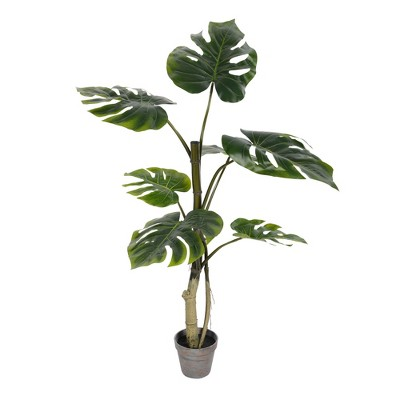 Vickerman Artificial Potted Grand Split Philodendron Tree.