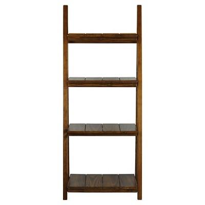 60  Folding Slatted Bookcase-4 Shelf