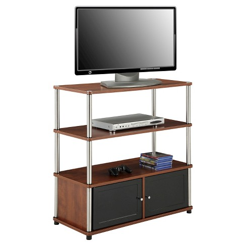 Highboy Tv Stand Cherry Convenience Concepts Target