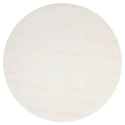 "Quincy Rug - White (6'7"" Round)- Safavieh"