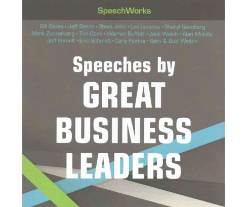 Speeches by Great Business Leaders : Direct to Audio Edition (CD/Spoken Word) - image 1 of 1