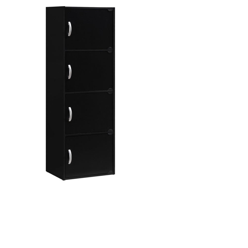 Image of Hodedah Import Storage Cabinet - Black