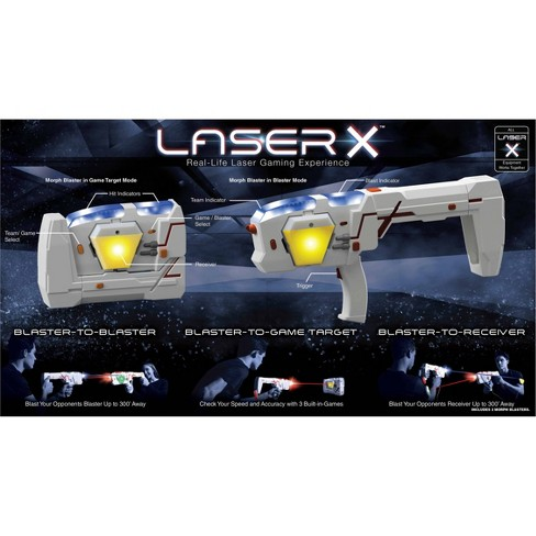 Laser X Two Player Double Morph Laser Tag Gaming Set : Target