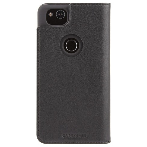 best sneakers a70c8 56b7c Case-Mate Google Pixel 2 Black Leather Wallet Folio Case