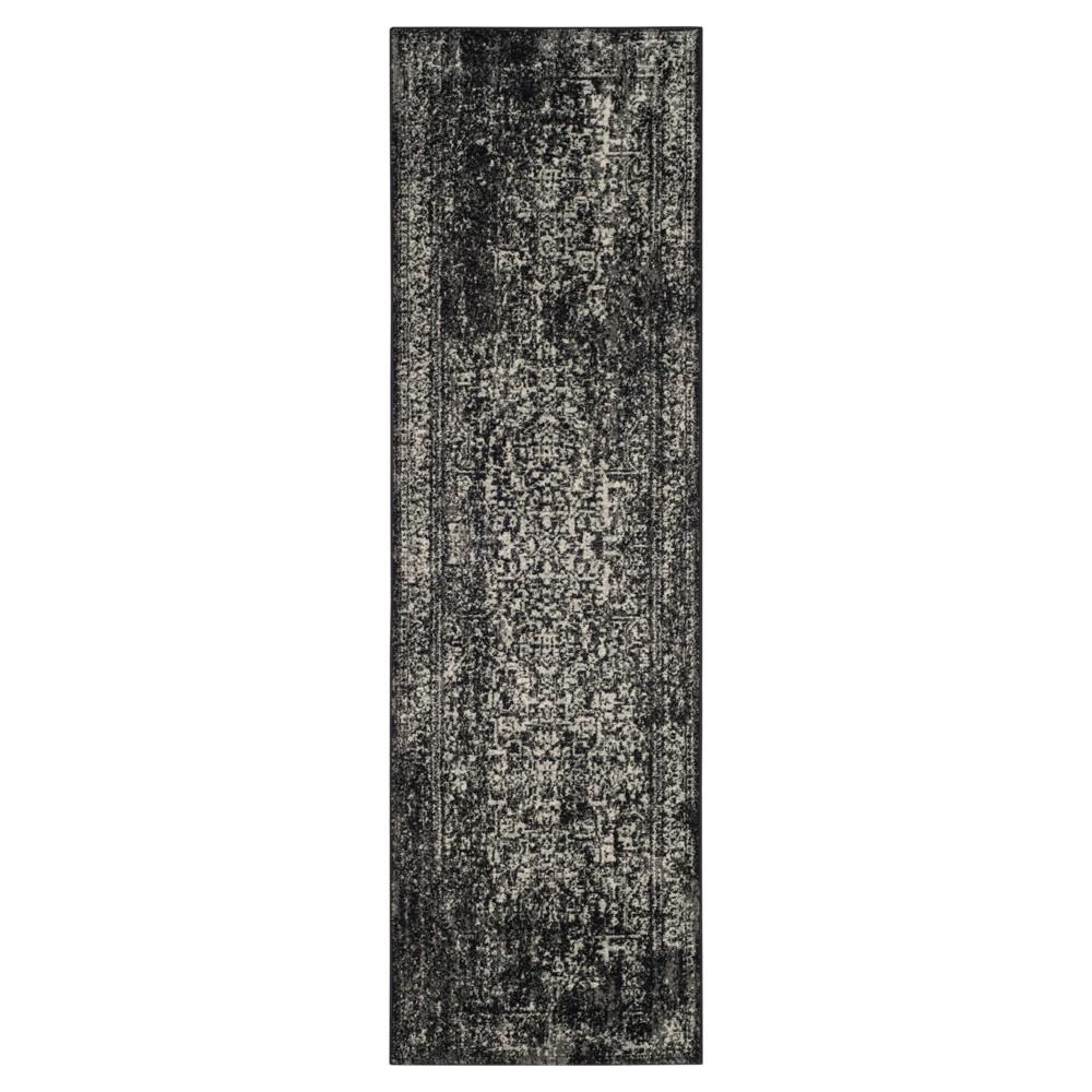 Best Evoke Rug - Black Gray - 22x7 - Safavieh