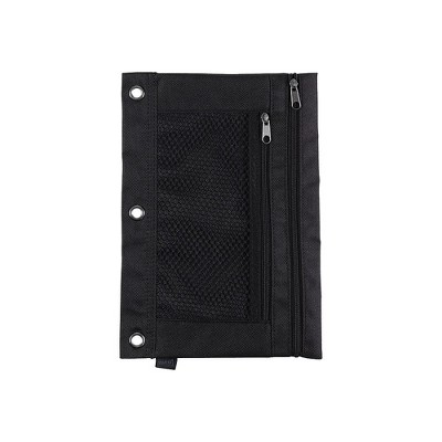 Staples 3-Ring Pencil Pouch Black (24220) 472597