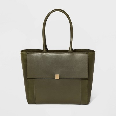 Zip Closure Work Tote Handbag   A New Day by A New Day
