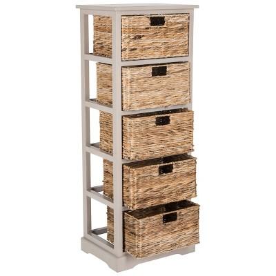 Vedette 5 Wicker Basket Storage Chest - Safavieh : Target