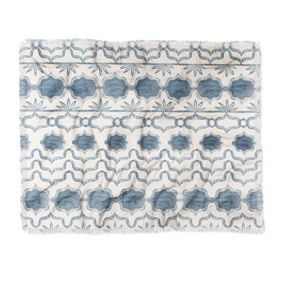 """60""""X50"""" Dash And Ash Tuni Luna Throw Blanket Blue - Deny Designs"""