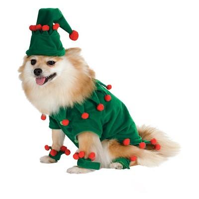 Rubies Full Body Holiday Dog Costume - M