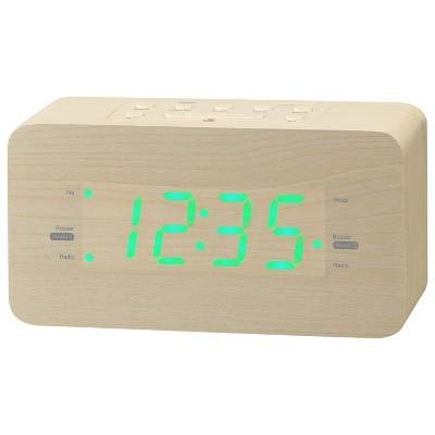 GPX Clock Radio, AM/FM, USB Port - Cream (C357LW)
