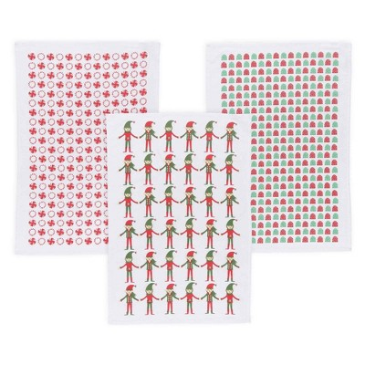 Kitchen Towel White Red Green Now Designs