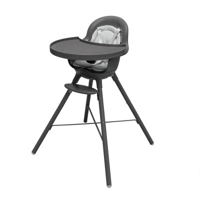 Boon GRUB 2-in-1 Convertible High Chair for Baby & Toddler Chair with Dishwasher-Safe Seat & Tray - Gray