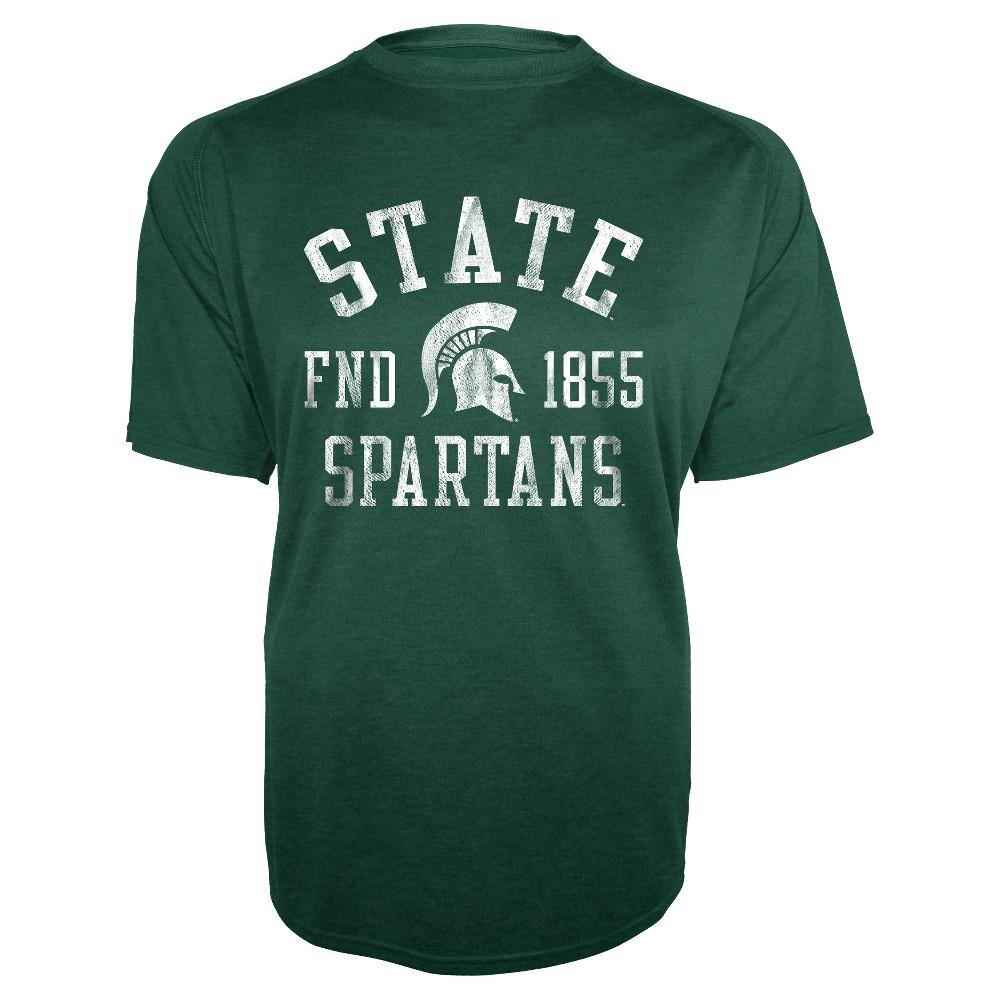 NCAA Michigan State Spartans Men's Short Sleeve Heather (Grey) T-Shirt - XL