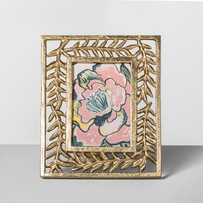 4  x 6  Cast Palm Frame Gold - Opalhouse™