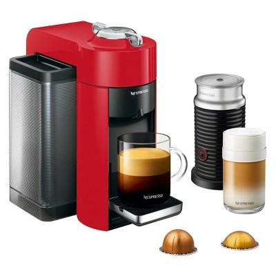 Nespresso Vertuo Coffee and Espresso Machine with Aeroccino Red by De'Longhi