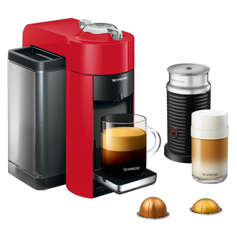 Nespresso Vertuo Coffee and Espresso Machine with Aeroccino Red by De'Longhi 52209052