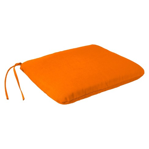 Jordan Square Dining Seat Pad - Tangerine Orange - image 1 of 2