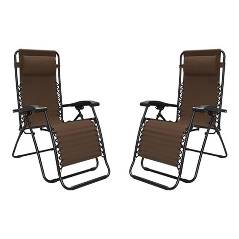 Caravan Canopy Portable Adjule Infinity Zero Gravity Chair Brown 2 Pack Target