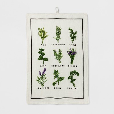 Herb Print Kitchen Towel - Smith & Hawken™