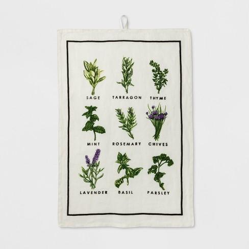 Herb Print Kitchen Towel - Smith & Hawken™ - image 1 of 1