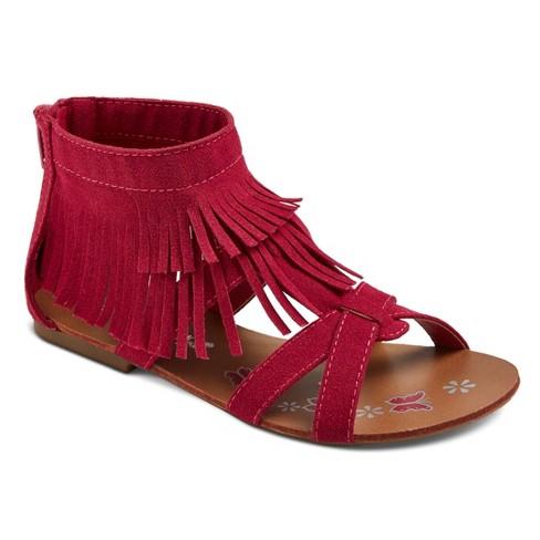 c2940d697bb9 Girls  CoverGirl Shelly Double Fringe Gladiator Sandals   Target