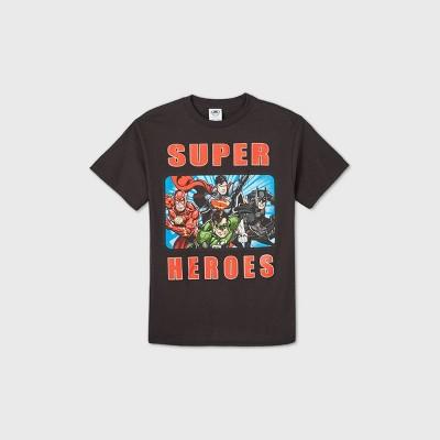 Boys' DC Team Up Short Sleeve Graphic T-Shirt - Black