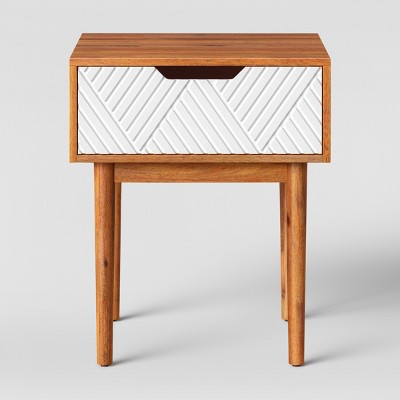 Touraco Accent Table Brown/White - Opalhouse™
