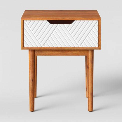 Touraco Accent Table Brown/White - Opalhouse™ - image 1 of 3