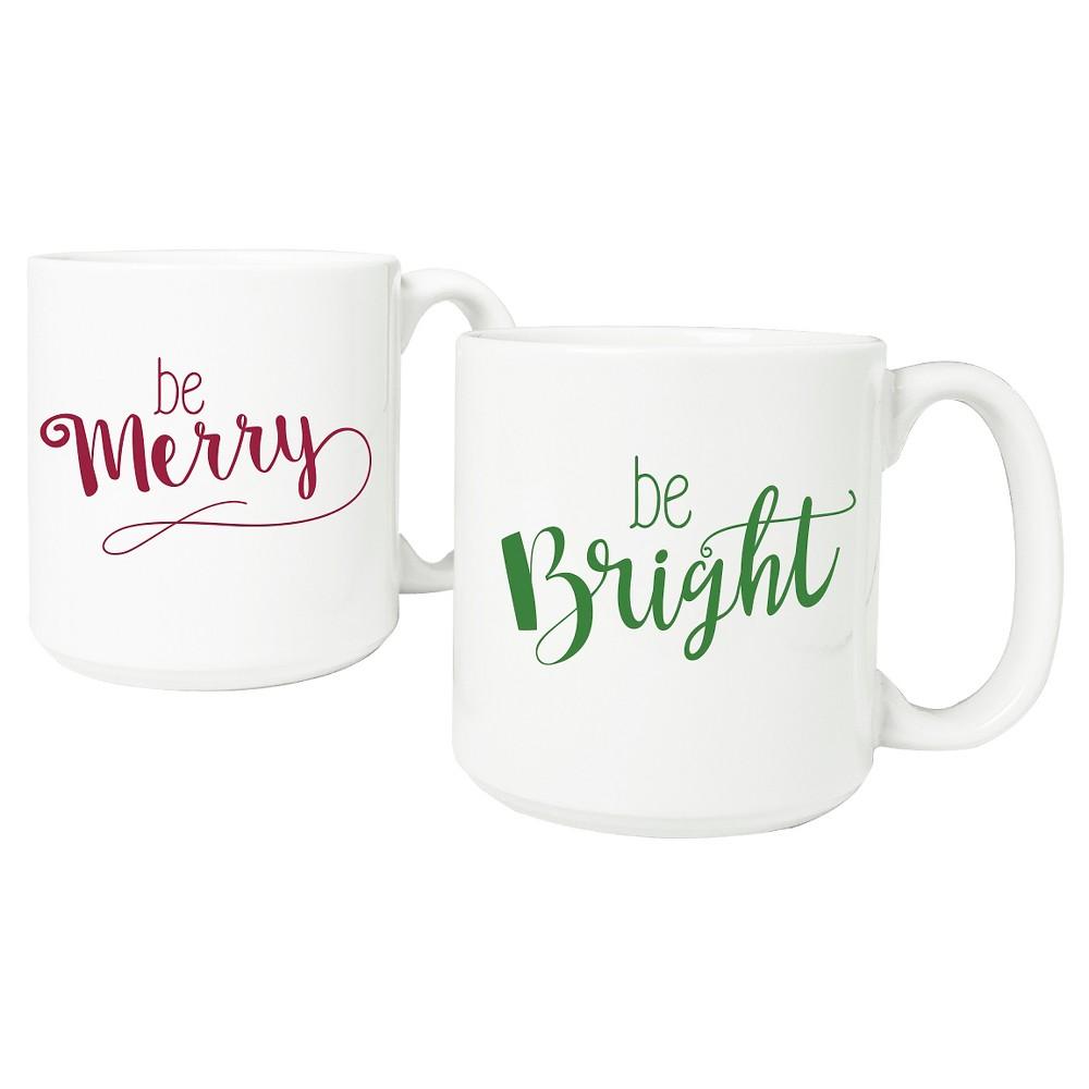 20oz 2ct Merry 38 Bright Coffee Mug