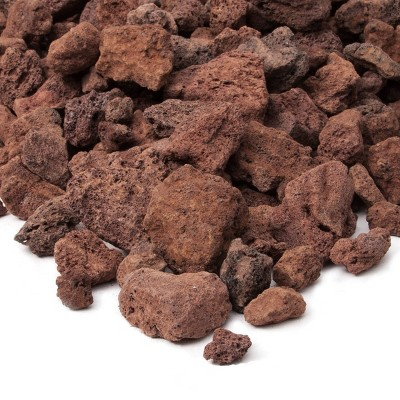 20lb Lava Rocks Red - Real Flame