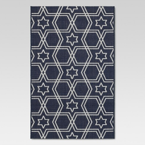 "Holiday 30""x50"" Outdoor Rug - Blue - Threshold™ - image 1 of 4"