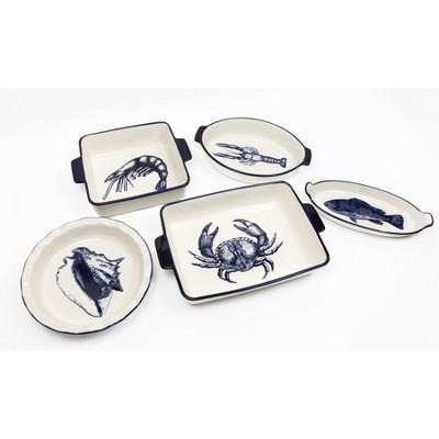 Cuisine & Company Dockside Bakeware 5-Piece Ceramic Stoneware Baking Set