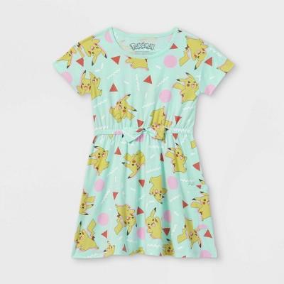 Girls' Pokemon Pikachu Dress - Green