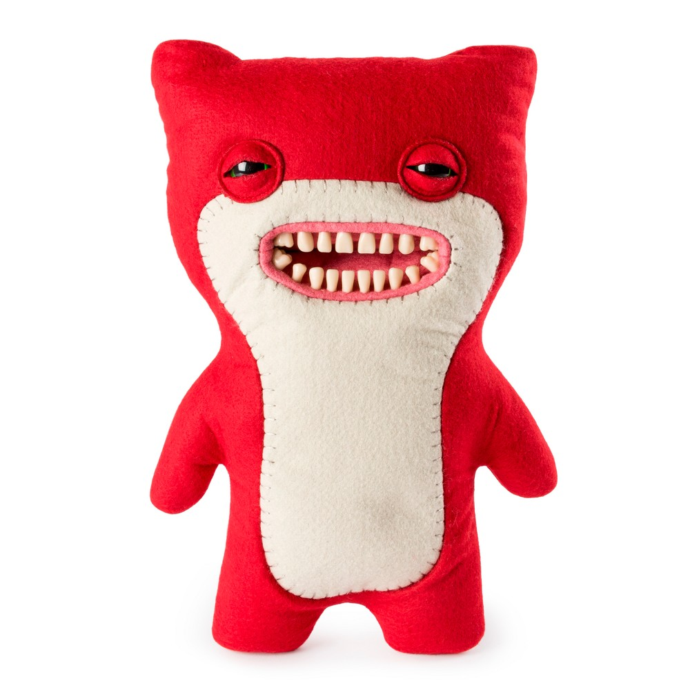 """Image of """"Fuggler Funny Ugly Monster 12"""""""" Awkward Bear Deluxe Plush Creature with Teeth - Red"""""""