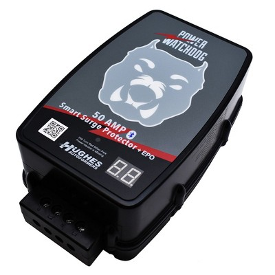 Hughes Autoformers Power Watchdog Hardwired RV Auto Shutoff Smart Bluetooth Electrical Surge Protector, 50 Amp