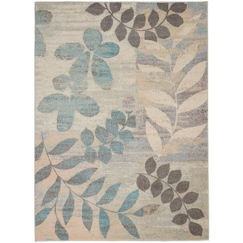 Ivory Light Blue Indoor Area Rug