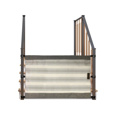 The Stair Barrier Portable Wide Banister to Banister Retractable Fabric Baby and Pet Safety Gate, 42 to 52 Inch, Hampton Natural