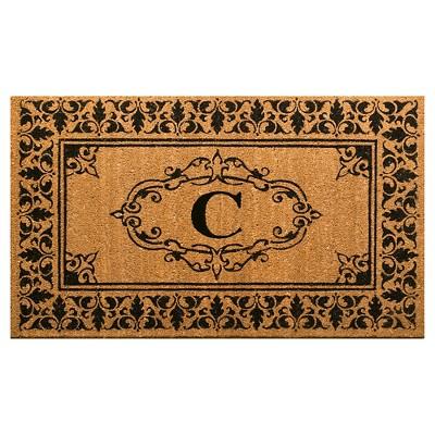 nuLOOM Monogrammed Doormat - Letter C (2' 6  x 4')