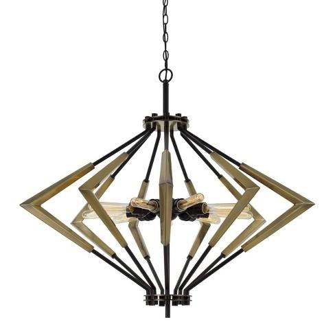 "34"" x 37"" 9 Light Metal Malounta Chandelier Antique Brass - Cal Lighting - image 1 of 3"