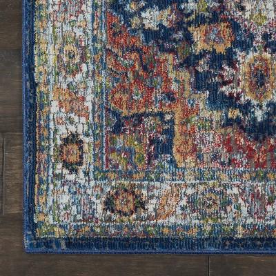 Nourison Global Vintage GLB11 Blue/Red/Beige Indoor Area Rug : Target